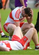 27 May 2018; A dejected Mark Lynch of Derry after the Ulster GAA Football Senior Championship Quarter-Final match between Derry and Donegal at Celtic Park in Derry. Photo by Oliver McVeigh/Sportsfile