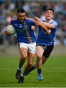 27 May 2018; Darren Hayden of Wicklow is tackled by Con O'Callaghan of Dublin during the Leinster GAA Football Senior Championship Quarter-Final match between Wicklow and Dublin at O'Moore Park in Portlaoise, Co Laois. Photo by Ramsey Cardy/Sportsfile