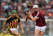 27 May 2018; Joe Canning of Galway shoots under pressure from Paul Murphy of Kilkenny during the Leinster GAA Hurling Senior Championship Round 3 match between Galway and Kilkenny at Pearse Stadium in Galway. Photo by Piaras Ó Mídheach/Sportsfile