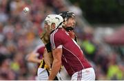 27 May 2018; Walter Walsh of Kilkenny is tackled by Gearóid McInerney of Galway during the Leinster GAA Hurling Senior Championship Round 3 match between Galway and Kilkenny at Pearse Stadium in Galway. Photo by Piaras Ó Mídheach/Sportsfile