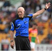 27 May 2018; Referee Cormac Reilly during the Leinster GAA Football Senior Championship Quarter-Final match between Carlow and Kildare at O'Connor Park in Tullamore, Offaly. Photo by Matt Browne/Sportsfile