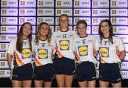 25 May 2018; The 2018 Lidl Teams of the Ladies National Football League awards were presented at Croke Park on Friday, May 25. The best players from the four divisions in the Lidl National Leagues have been selected, following nominations from opposition managers. Players receiving the most votes were selected in their positions on the Lidl Teams of the League. Pictured are Tipperary winners, from left, Caoimhe Condon, Samantha Lambert, Aishling Moloney, Jennifer Grant, and Maria Curley. Croke Park, Dublin. Photo by Piaras Ó Mídheach/Sportsfile