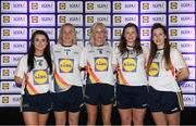 25 May 2018; The 2018 Lidl Teams of the Ladies National Football League awards were presented at Croke Park on Friday, May 25. The best players from the four divisions in the Lidl National Leagues have been selected, following nominations from opposition managers. Players receiving the most votes were selected in their positions on the Lidl Teams of the League. Pictured are Wexford winners, from left, Niamh Mernagh, Mary Rose Kelly, Bernie Breen, Maria Byrne, and Fiona Rochford. Croke Park, Dublin. Photo by Piaras Ó Mídheach/Sportsfile