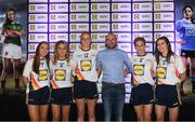 25 May 2018; The 2018 Lidl Teams of the Ladies National Football League awards were presented at Croke Park on Friday, May 25. The best players from the four divisions in the Lidl National Leagues have been selected, following nominations from opposition managers. Players receiving the most votes were selected in their positions on the Lidl Teams of the League. Pictured are Tipperary winners, from left, Caoimhe Condon, Samantha Lambert, Aishling Moloney, Jennifer Grant, and Maria Curley, alongside their manager Shane Ronayne who won the The Lidl/Irish Daily Star Manager of the Month for May Award. Croke Park, Dublin. Photo by Piaras Ó Mídheach/Sportsfile