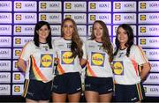 25 May 2018; The 2018 Lidl Teams of the Ladies National Football League awards were presented at Croke Park on Friday, May 25. The best players from the four divisions in the Lidl National Leagues have been selected, following nominations from opposition managers. Players receiving the most votes were selected in their positions on the Lidl Teams of the League. Pictured are Cavan winners, from left, Aisling Maguire, Aishling Sheridan, Evelyn Baugh, and Sinéad Greene. Croke Park, Dublin. Photo by Piaras Ó Mídheach/Sportsfile