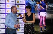 25 May 2018; The Lidl/Irish Daily Star Manager of the Month for May was announced today as Tipperary's Shane Ronayne. Under Shane's stewardship, Tipperary won the Lidl National League Division 2 title, to gain promotion to Division 1 for 2019. Tipperary defeated Cavan at Parnell Park and it was the second successive Lidl League title for the Premier County, who were crowned Division 3 winners in 2017. Pictured is Shane Ronayne with MC Gráinne McElwain. Croke Park, Dublin. Photo by Piaras Ó Mídheach/Sportsfile