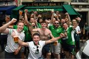 28 May 2018; Ireland supporters in Paris prior to the International Friendly match between France and Republic of Ireland at Stade de France in Paris, France. Photo by Stephen McCarthy/Sportsfile
