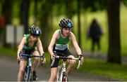 27 May 2018; Billy Black, from Ramelton, Co. Donegal, right, and Brendan Mcguinness, from Walterstown - Johnstown, Co. Meath, competing in the Duathlon during Day 2 of the Aldi Community Games May Festival, which saw over 3,500 children take part in a fun-filled weekend at University of Limerick from 26th to 27th May. Photo by Diarmuid Greene/Sportsfile
