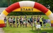 27 May 2018; A general view of the start of the Boys Duathlon during Day 2 of the Aldi Community Games May Festival, which saw over 3,500 children take part in a fun-filled weekend at University of Limerick from 26th to 27th May. Photo by Diarmuid Greene/Sportsfile