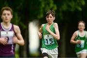 27 May 2018; Iarlaith O' Brien, from Drumshambo, Co. Leitrim, centre, competing alongside Ralf Bodamer, from Athenry, Co. Galway, left, and Bryan Guina, from Feohanagh - Castlemahon, Co. Limerick, in the Duathlon during Day 2 of the Aldi Community Games May Festival, which saw over 3,500 children take part in a fun-filled weekend at University of Limerick from 26th to 27th May. Photo by Diarmuid Greene/Sportsfile