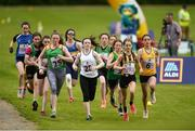 27 May 2018; A general view of the start of the Girls Duathlon during Day 2 of the Aldi Community Games May Festival, which saw over 3,500 children take part in a fun-filled weekend at University of Limerick from 26th to 27th May. Photo by Diarmuid Greene/Sportsfile