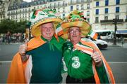 28 May 2018; Republic of Ireland supporters Bobby Cunningham, from Kilcar, left, with Frankie Murrin, from Killybegs, right, in Paris prior to the International Friendly match between France and Republic of Ireland at Stade de France in Paris, France. Photo by Stephen McCarthy/Sportsfile