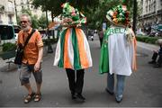 28 May 2018; Republic of Ireland supporters Frankie Murrin, from Killybegs, centre, with Bobby Cunningham, from Kilcar, right, in Paris prior to the International Friendly match between France and Republic of Ireland at Stade de France in Paris, France. Photo by Stephen McCarthy/Sportsfile