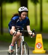 27 May 2018; Annie Deneher, from Erne Valley, Co. Cavan, competing in the Duathlon during Day 2 of the Aldi Community Games May Festival, which saw over 3,500 children take part in a fun-filled weekend at University of Limerick from 26th to 27th May.  Photo by Diarmuid Greene/Sportsfile