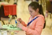 26 May 2018; Ellen Regan from Ballghaderreen, Co. Roscommon, competing in the u14 Model Making event during day 1 of the Aldi Community Games. Over 3,500 children took part in Aldi Community Games May Festival on a sun-drenched, fun-filled weekend in University of Limerick from 26th to 27th May. Photo by Diarmuid Greene/Sportsfile