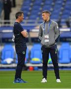28 May 2018; Republic of Ireland assistant manager Roy Keane, left, and goalkeeper Shane Supple during the International Friendly match between France and Republic of Ireland at Stade de France in Paris, France. Photo by Seb Daly/Sportsfile