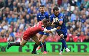 26 May 2018; Isa Nacewa of Leinster is tackled by Hadleigh Parkes of Scarlets during the Guinness PRO14 Final between Leinster and Scarlets at the Aviva Stadium in Dublin. Photo by Ramsey Cardy/Sportsfile