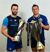 26 May 2018; Barry Daly and Rhys Ruddock of Leinster following the Guinness PRO14 Final between Leinster and Scarlets at the Aviva Stadium in Dublin. Photo by Ramsey Cardy/Sportsfile