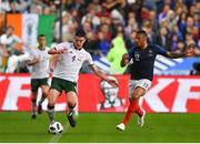 28 May 2018; Declan Rice of Republic of Ireland in action against Corentin Tolisso of France during the International Friendly match between France and Republic of Ireland at Stade de France in Paris, France. Photo by Seb Daly/Sportsfile