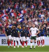 28 May 2018; Declan Rice of Republic of Ireland reacts after his side conceeded their second goal during the International Friendly match between France and Republic of Ireland at Stade de France in Paris, France. Photo by Stephen McCarthy/Sportsfile