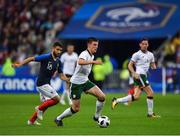 28 May 2018; Declan Rice of Republic of Ireland in action against Nabil Fekir of France during the International Friendly match between France and Republic of Ireland at Stade de France in Paris, France. Photo by Seb Daly/Sportsfile