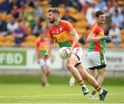 27 May 2018; Daniel St Ledger of Carlow during the Leinster GAA Football Senior Championship Quarter-Final match between Carlow and Kildare at O'Connor Park in Tullamore, Offaly. Photo by Matt Browne/Sportsfile