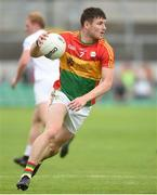 27 May 2018; Ciaran Moran of Carlow during the Leinster GAA Football Senior Championship Quarter-Final match between Carlow and Kildare at O'Connor Park in Tullamore, Offaly. Photo by Matt Browne/Sportsfile