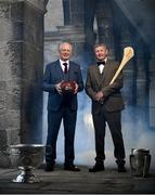 29 May 2018; All-Ireland winners Barney Rock, left, and Damien Fitzhenry today launched this year's Bord Gáis Energy GAA Legends Tour Series at Croke Park. They will be joined by a star-studded line-up of Football and Hurling greats who will host exclusive tours of Croke Park stadium and museum over the summer. For more, see: www.crokepark.ie/gaa-museum. Photo by Ramsey Cardy/Sportsfile