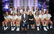 25 May 2018; The 2018 Lidl Teams of the Ladies National Football League awards were presented at Croke Park on Friday, May 25. The best players from the four divisions in the Lidl National Leagues have been selected, following nominations from opposition managers. Players receiving the most votes were selected in their positions on the Lidl Teams of the League. The Lidl Division 2 Team of the League is pictured with Ladies Gaelic Football Association President, Marie Hickey, and Lidl Ireland Sponsorship Manager, Jay Wilson. Croke Park, Dublin. Photo by Piaras Ó Mídheach/Sportsfile