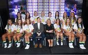 25 May 2018; The 2018 Lidl Teams of the Ladies National Football League awards were presented at Croke Park on Friday, May 25. The best players from the four divisions in the Lidl National Leagues have been selected, following nominations from opposition managers. Players receiving the most votes were selected in their positions on the Lidl Teams of the League. The Lidl Division 3 Team of the League is pictured with Ladies Gaelic Football Association President, Marie Hickey, and Lidl Ireland Sponsorship Manager, Jay Wilson. Croke Park, Dublin. Photo by Piaras Ó Mídheach/Sportsfile