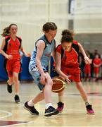 27 May 2018; Amy Curtin from Castleisland, Co. Kerry, right and Aimee Stewart from Oranmore, Co. Galway, competing in the Basketball U13 Girls event during during Day 2 of the Aldi Community Games May Festival, which saw over 3,500 children take part in a fun-filled weekend at University of Limerick from 26th to 27th May.  Photo by Sam Barnes/Sportsfile