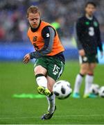 28 May 2018; Daryl Horgan of Republic of Ireland during the warm-up prior to the International Friendly match between France and Republic of Ireland at Stade de France in Paris, France. Photo by Seb Daly/Sportsfile