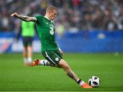 28 May 2018; James McClean of Republic of Ireland during the warm-up prior to the International Friendly match between France and Republic of Ireland at Stade de France in Paris, France. Photo by Seb Daly/Sportsfile