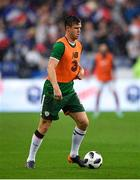 28 May 2018; Kevin Long of Republic of Ireland during the warm-up prior to the International Friendly match between France and Republic of Ireland at Stade de France in Paris, France. Photo by Seb Daly/Sportsfile