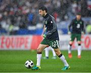 28 May 2018; Harry Arter of Republic of Ireland during the warm-up prior to the International Friendly match between France and Republic of Ireland at Stade de France in Paris, France. Photo by Seb Daly/Sportsfile