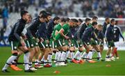 28 May 2018; Jonathan Walters of Republic of Ireland, centre, during the warm-up prior to the International Friendly match between France and Republic of Ireland at Stade de France in Paris, France. Photo by Seb Daly/Sportsfile