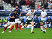 28 May 2018; Callum O'Dowda of Republic of Ireland in action against Nabil Fekir of France during the International Friendly match between France and Republic of Ireland at Stade de France in Paris, France. Photo by Seb Daly/Sportsfile