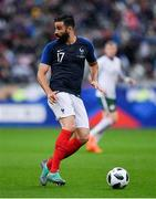 28 May 2018; Adil Rami of France during the International Friendly match between France and Republic of Ireland at Stade de France in Paris, France. Photo by Seb Daly/Sportsfile