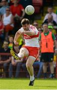 27 May 2018; Mark Lynch of Derry during the Ulster GAA Football Senior Championship Quarter-Final match between Derry and Donegal at Celtic Park in Derry. Photo by Oliver McVeigh/Sportsfile