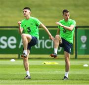 31 May 2018; Declan Rice, left, and Seamus Coleman during a Republic of Ireland training session at the FAI National Training Centre in Abbotstown, Dublin. Photo by Stephen McCarthy/Sportsfile