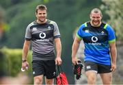 31 May 2018; Coach Jared Payne, left, and Jack McGrath during Ireland squad training at Carton House in Maynooth, Co. Kildare. Photo by Ramsey Cardy/Sportsfile