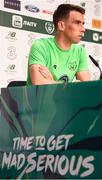 31 May 2018; Seamus Coleman during a Republic of Ireland press conference at the FAI National Training Centre in Abbotstown, Dublin. Photo by Stephen McCarthy/Sportsfile