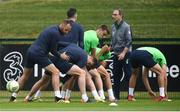 1 June 2018; Players, including David Meyler, Kevin Long and Seamus Coleman during Republic of Ireland training at the FAI National Training Centre in Abbotstown, Dublin. Photo by Stephen McCarthy/Sportsfile