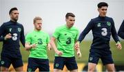 1 June 2018; Players, from left, Shane Duffy, Daryl Horgan, Seamus Coleman and Callum O'Dowda during Republic of Ireland training at the FAI National Training Centre in Abbotstown, Dublin. Photo by Stephen McCarthy/Sportsfile