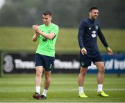 1 June 2018; Seamus Coleman during Republic of Ireland training at the FAI National Training Centre in Abbotstown, Dublin. Photo by Stephen McCarthy/Sportsfile