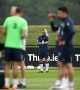 1 June 2018; Republic of Ireland assistant manager Roy Keane during training at the FAI National Training Centre in Abbotstown, Dublin. Photo by Stephen McCarthy/Sportsfile
