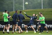 1 June 2018; Shane Duffy and Seamus Coleman, right, during Republic of Ireland training at the FAI National Training Centre in Abbotstown, Dublin. Photo by Stephen McCarthy/Sportsfile