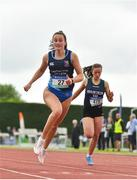 2 June 2018; Ciara Neville of Castletroy College, Co. Limerick, on her way to winning the Senior Girls 100 Metres during the Irish Life Health All-Ireland Schools Track and Field Championships at Tullamore Harriers Stadium in Tullamore, Co. Offaly. Photo by Sam Barnes/Sportsfile