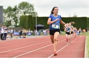 2 June 2018; Lucy Holmes of Ard Scoil na nDeise, Co. Waterford, on her way to winning the Intermediate Girls 800 Metres during the Irish Life Health All-Ireland Schools Track and Field Championships at Tullamore Harriers Stadium in Tullamore, Co. Offaly. Photo by Sam Barnes/Sportsfile