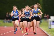 2 June 2018; A general view of the action during the Intermediate Girls 800 Metres during the Irish Life Health All-Ireland Schools Track and Field Championships at Tullamore Harriers Stadium in Tullamore, Co. Offaly. Photo by Sam Barnes/Sportsfile
